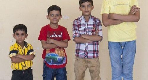 Los niños más altos del mundo